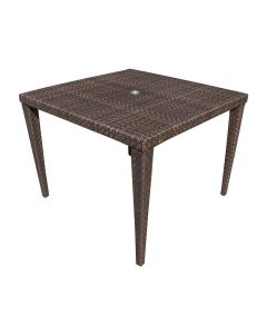 """Soho Patio Woven Square 40"""" Dining Table with Glass"""