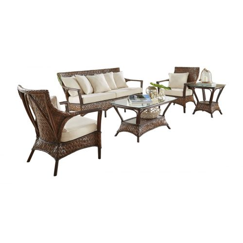 Panama Jack Espresso 5 Pc Seating Set with Cushions